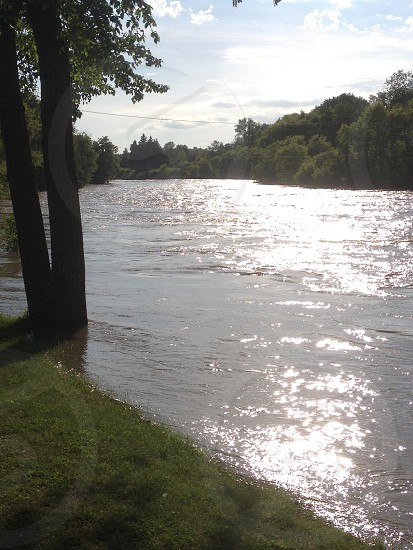 River sun on River photo