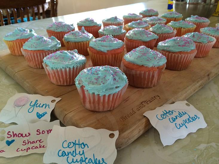 Cotton Candy Cupcakes  photo