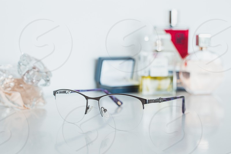 Women glasses and cosmetics photo