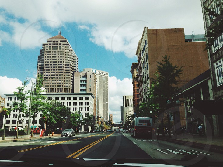 Columbus from inside my car. photo