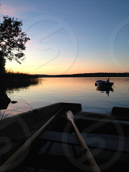 boat oar wooden photo