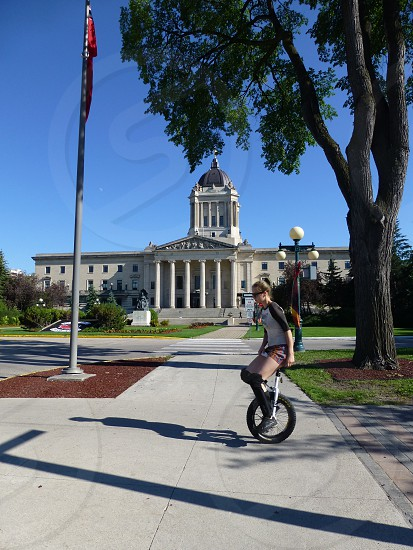 Unicycle in Canada photo