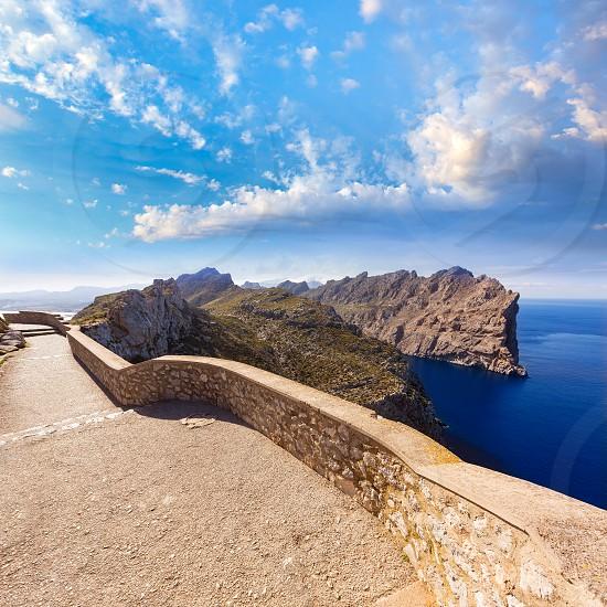Majorca mirador Formentor Cape in Mallorca island of spain photo