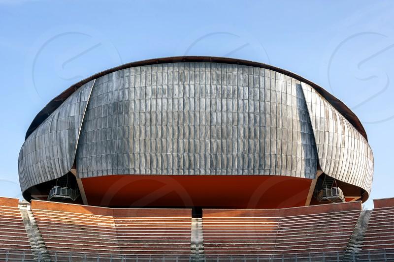 Exterior view of the Parco della Musica in Rome  photo