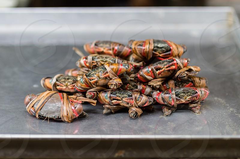 Street food - crab in Bangkok Thailand photo