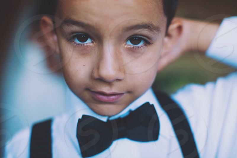 black bow tie photo