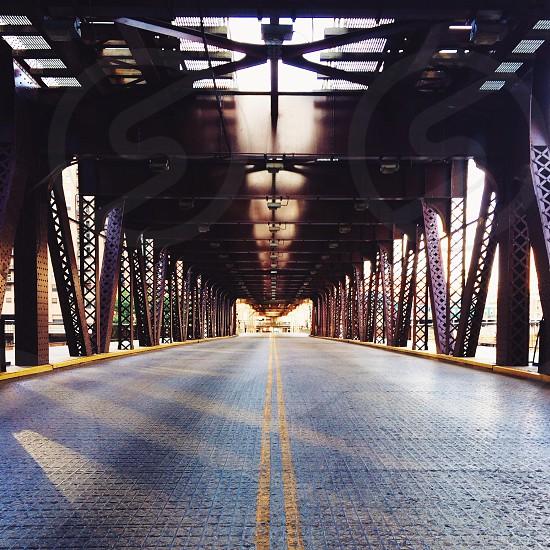 long metal bridge photo