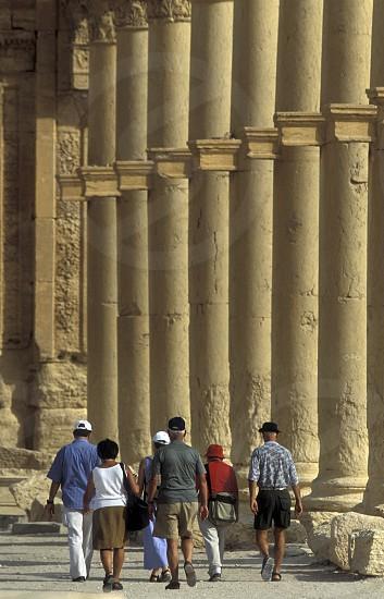 Die Ruinen von Palmyra in der Wueste Faydat in Syrien im Mittleren Osten in Arabien. photo