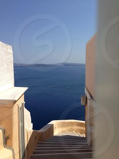 beige empty stairway  photo