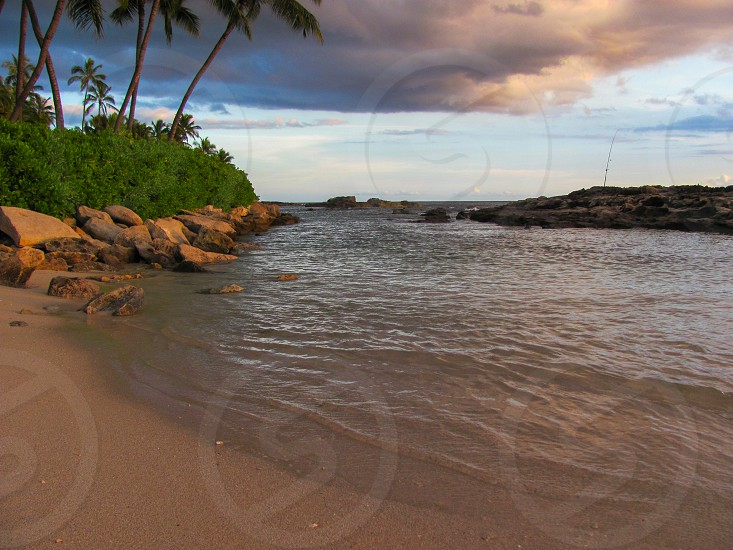 Hawaii trip at Ko Olina Paradise Cove dusk photo