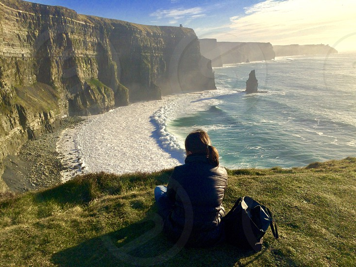 cliff of moher.Ireland nature and prayer. photo