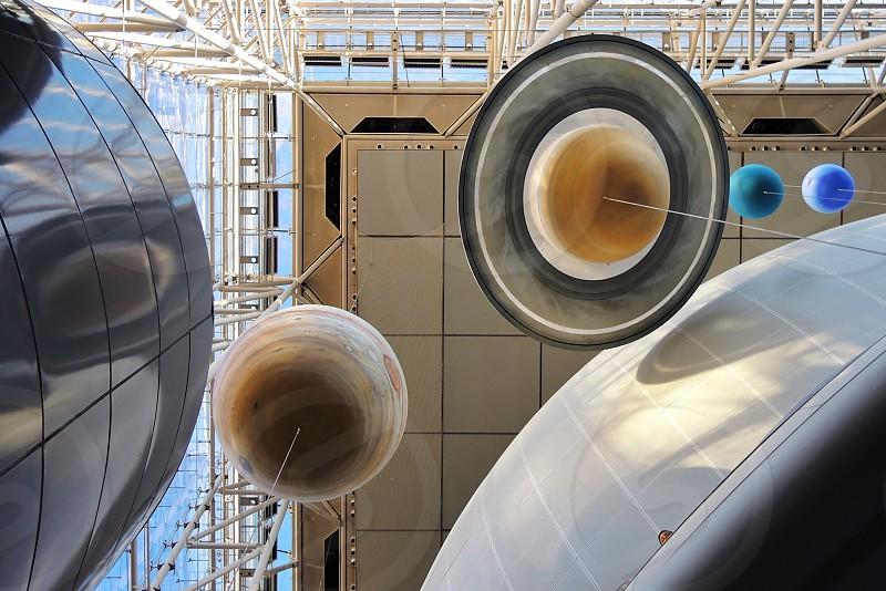 white solar system hanging decors photo