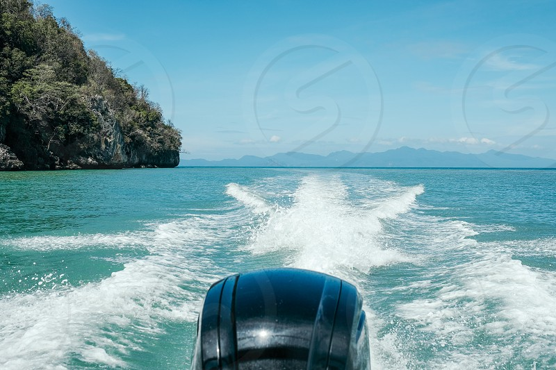 On a speed boat photo