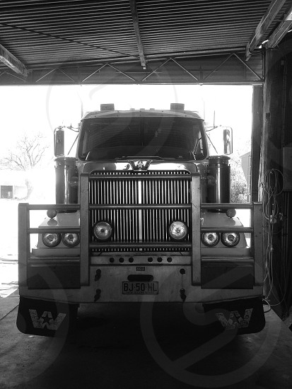 Western Star C-15 in for a service photo