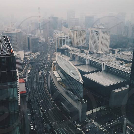 high angle photo of city skyline photo