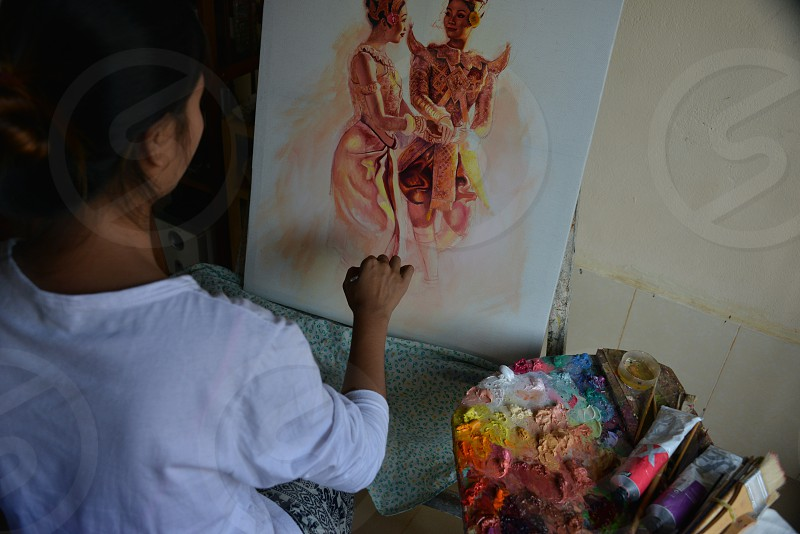 Capturing the essence of an artist in Cambodia. photo