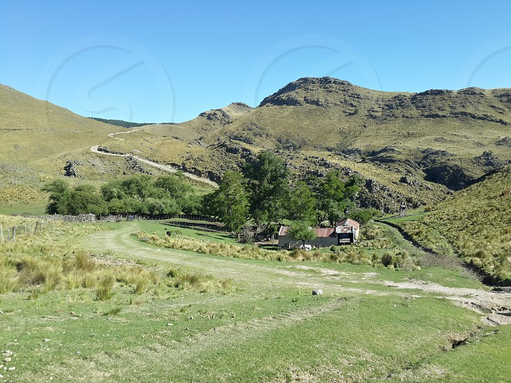rural post into mountains photo