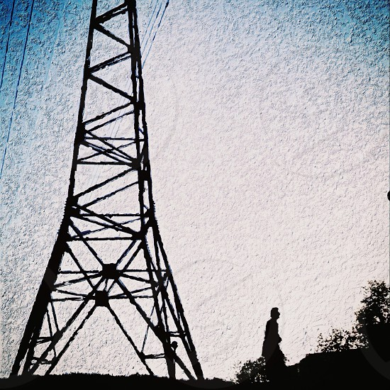 metal electric tower photo