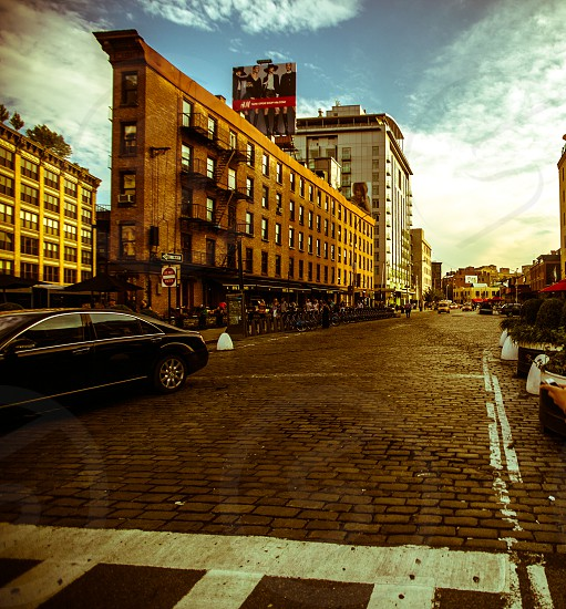 walking down meatpacking district in NYC photo