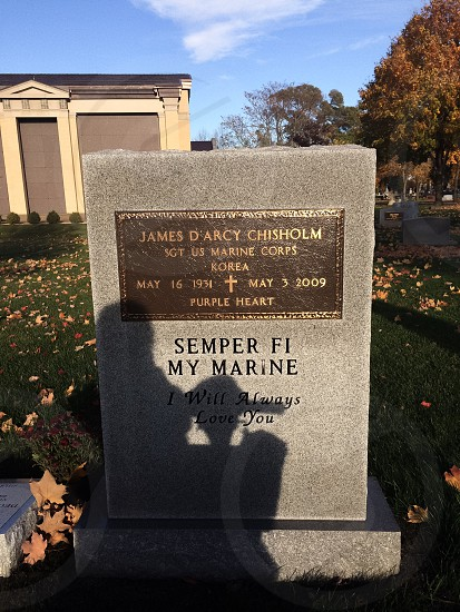 semper fi my marine tomb photo