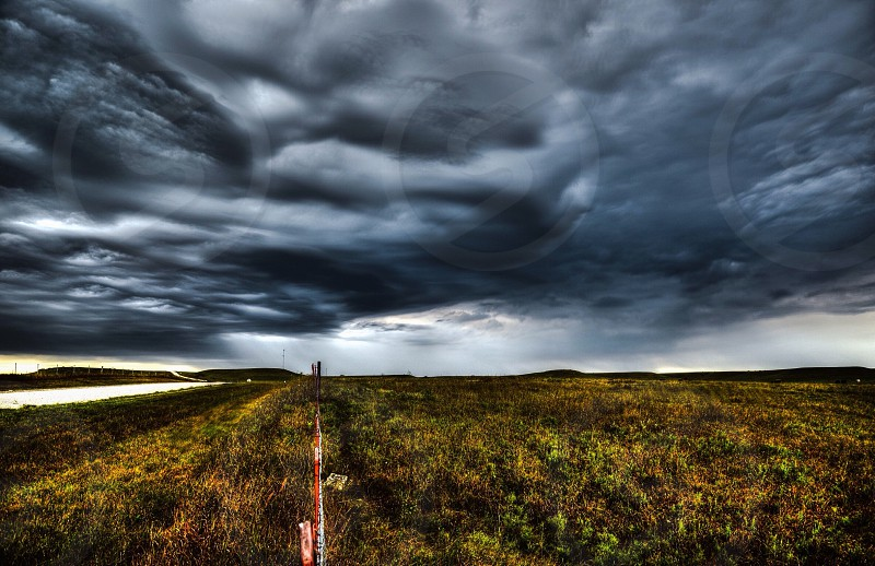 Ominous-looking storm clouds rolling in over the Flint Hills in September 2014. photo