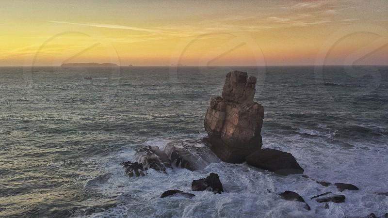 sunset portugal sea nature photo