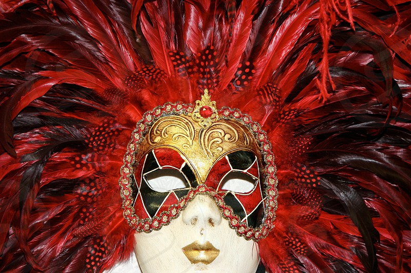 Venetian Mask on Display in a Shop in Venice photo