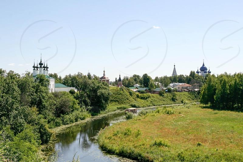 View of the Kamenka river Russia Suzdal photo