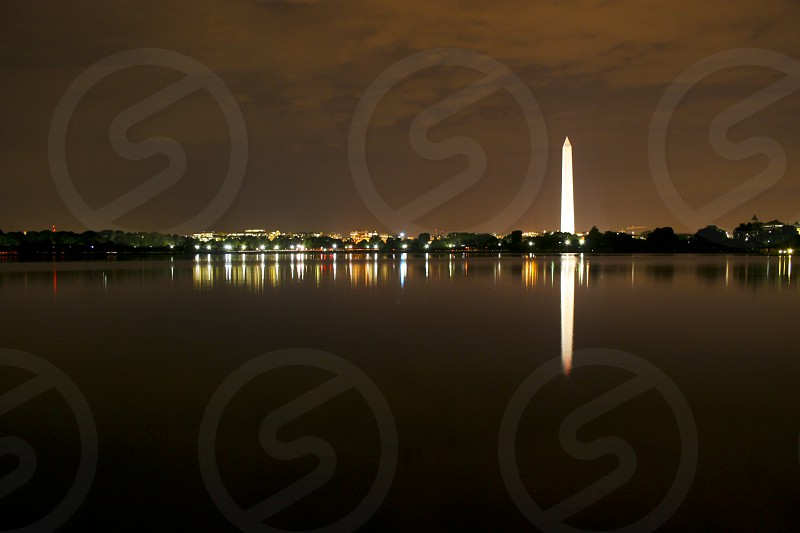 Washington DC Night Cityscape photo