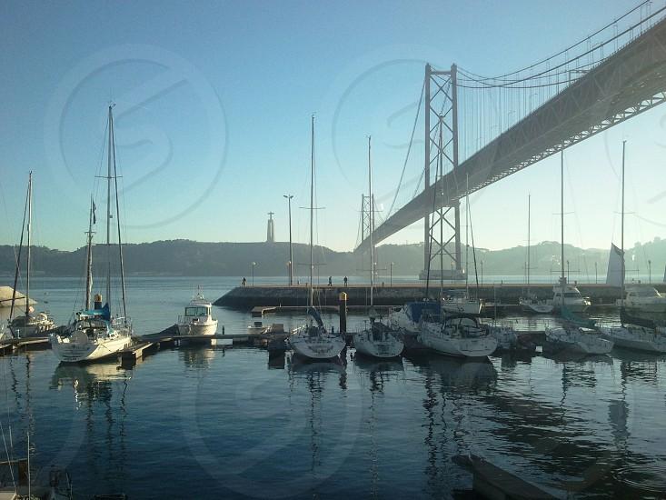 Bridge over Tagus Lisbon photo