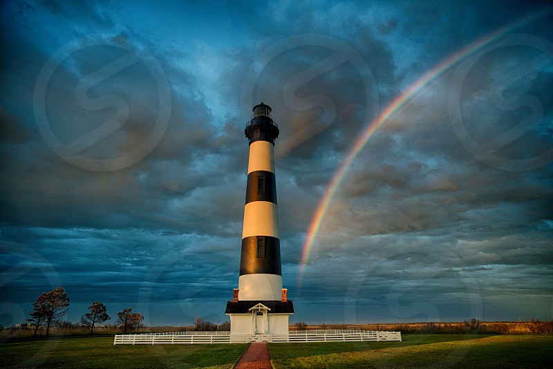 Outer banks North Carolina lighthouse bodie island obx rainbow island photo