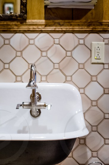 Tap and sink - bathroom photo