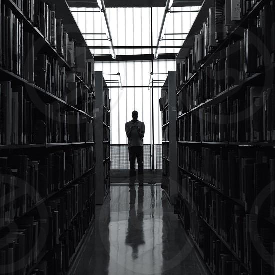 white bookcase  photo