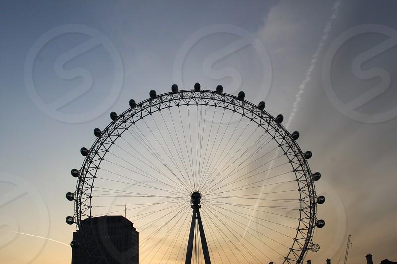 London Eye Sunrise 2 photo