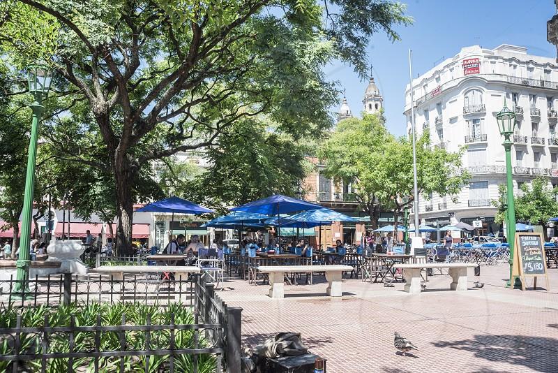 photo of landmark plaza dorrego in buenos aires argentina photo