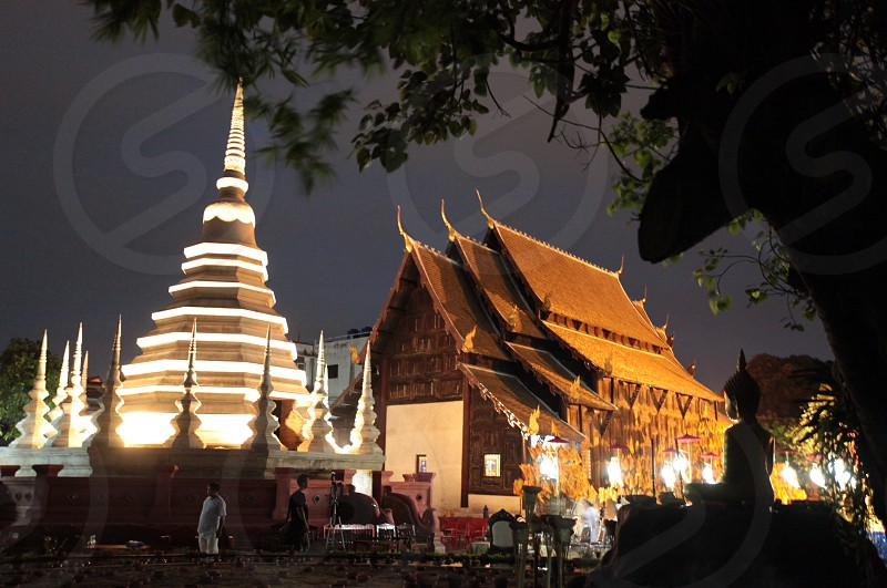 the Wat Phan Tao Tempel in the city of chiang mai in the north of Thailand in Southeastasia.  photo