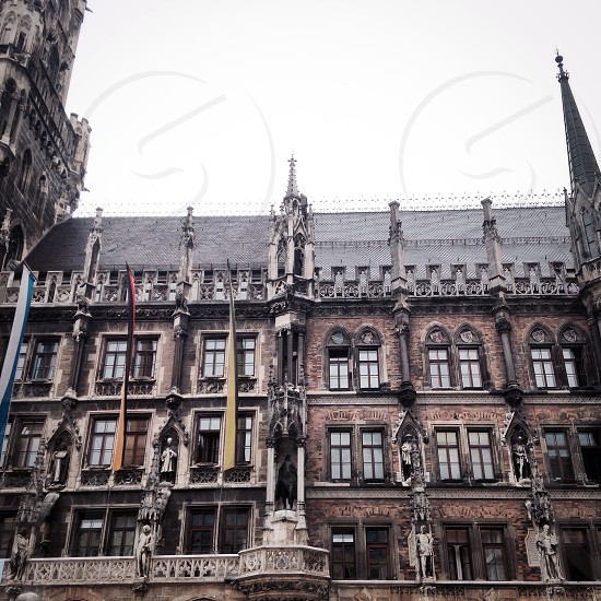 Germany Munich architecture buildings traveling gothic castle cathedral  photo