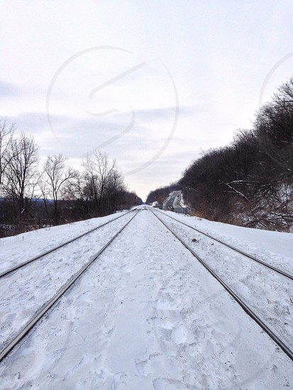stainless steel rail way photo