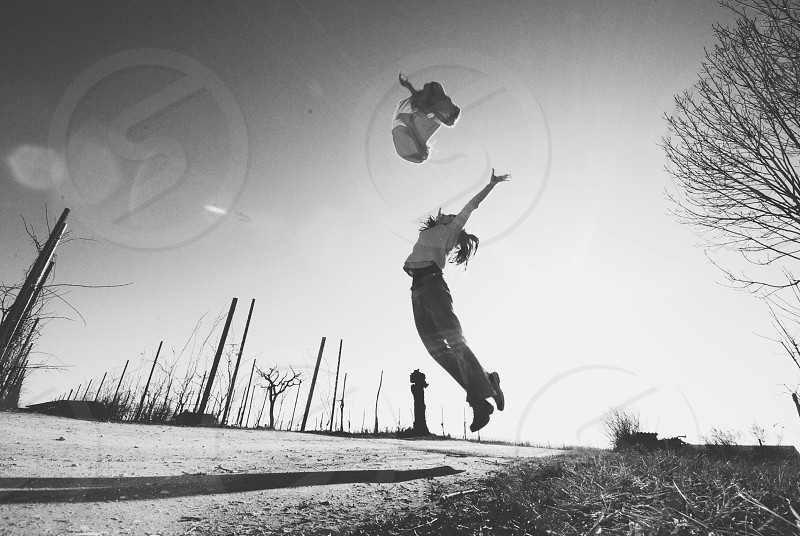 woman jumping photography  photo