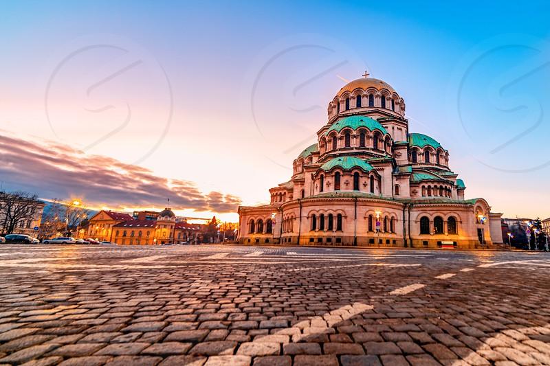 Alexander Nevsky Cathedral Sofia Sunset photo