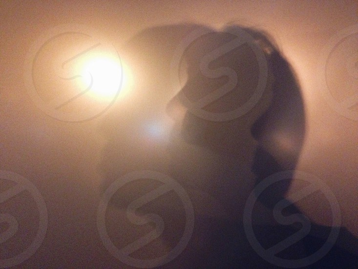 Frosted glass portrait photo