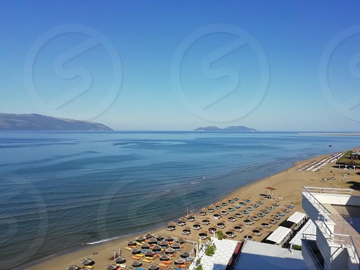 Vlorë Albania panoramic view adriatic sea beach photo