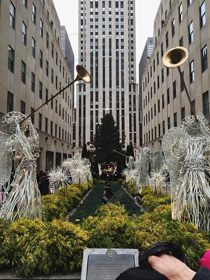 Christmas winter people Rockefeller plaza Rockefeller center Angels  photo