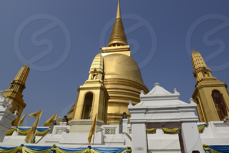 the Wat Bowonniwet temple in the city of Bangkok in Thailand in Southeastasia. photo