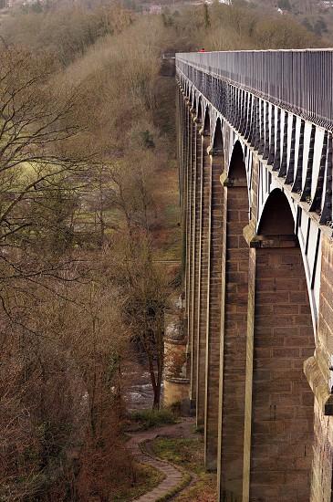 Aqueduct near Llangollen  Wales  photo