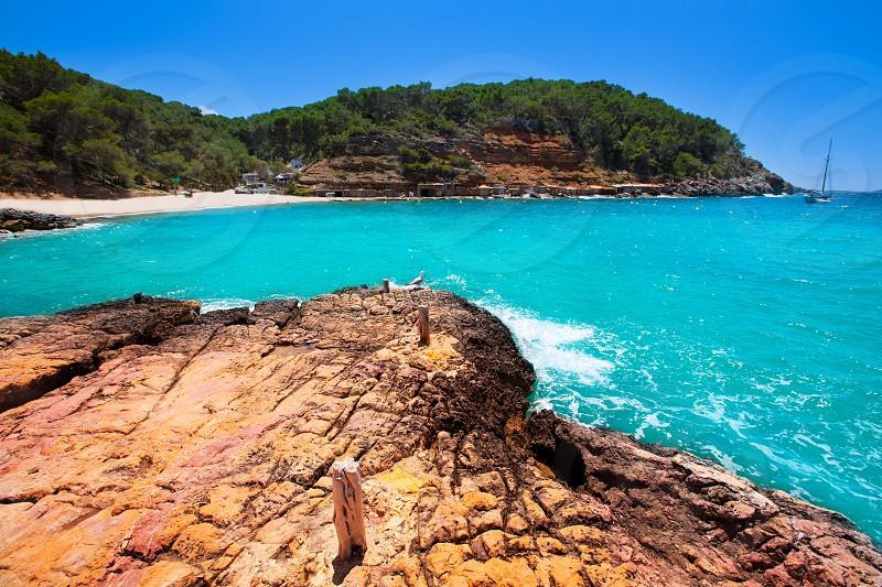 Ibiza cala Salada in san antonio Abad at Balearic Islands Spain photo