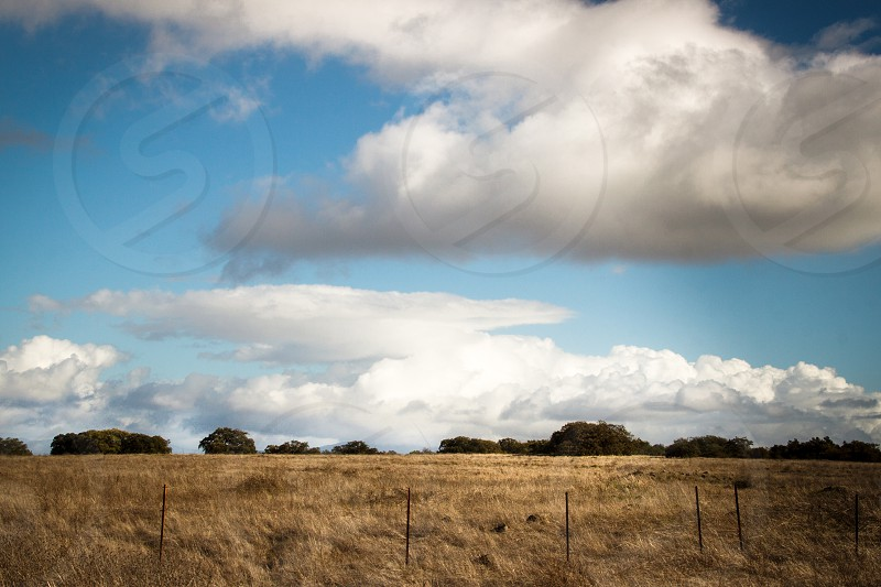 country side yard with clouds view  photo