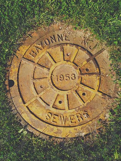 bayonne 1953 sewers printed man hole photo
