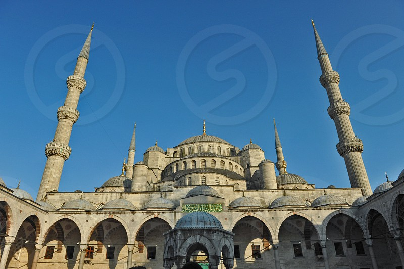 Blue Mosque Istanbul with clear blue sky. photo