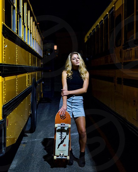 She was a skater girl.  photo